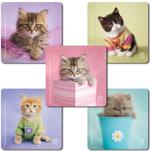 SmileMakers Rachael Hale Cats Stickers - 100 Per Pack