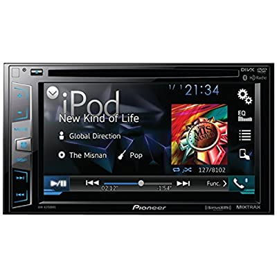 "Pioneer AVH-X3700BHS DVD Receiver with 6.2"" Display, BT, Siri Eyes Free, Sat-Ready, HD Radio, Android Music Support, Pandora, and Dual Camera Inputs"