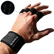 PULL UP CROSSFIT GRIPS - Strong Hand Protectors With Wrist Brace - Comfortable Grips For Gymnastics And WOD Cross Training - Better Than Weight Lifting Gloves Or Pads - 100% Emerge Guarantee