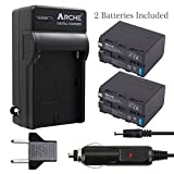 ARCHE NP-F970 NP F975 F960 F950 Battery <2 Pack> and Rapid Charger Set for [Sony DCM-M1 MVC-CD1000 HDR-FX1 DCR-VX2100E DSR-PD190P NEX-FS700RH HXR-NX3 HVL-LBPB and more Camcorder]