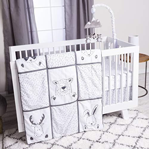 Trend Lab 3 Piece Crib Bedding Set, Peek-A-Boo Forest (Peeks Skirt)