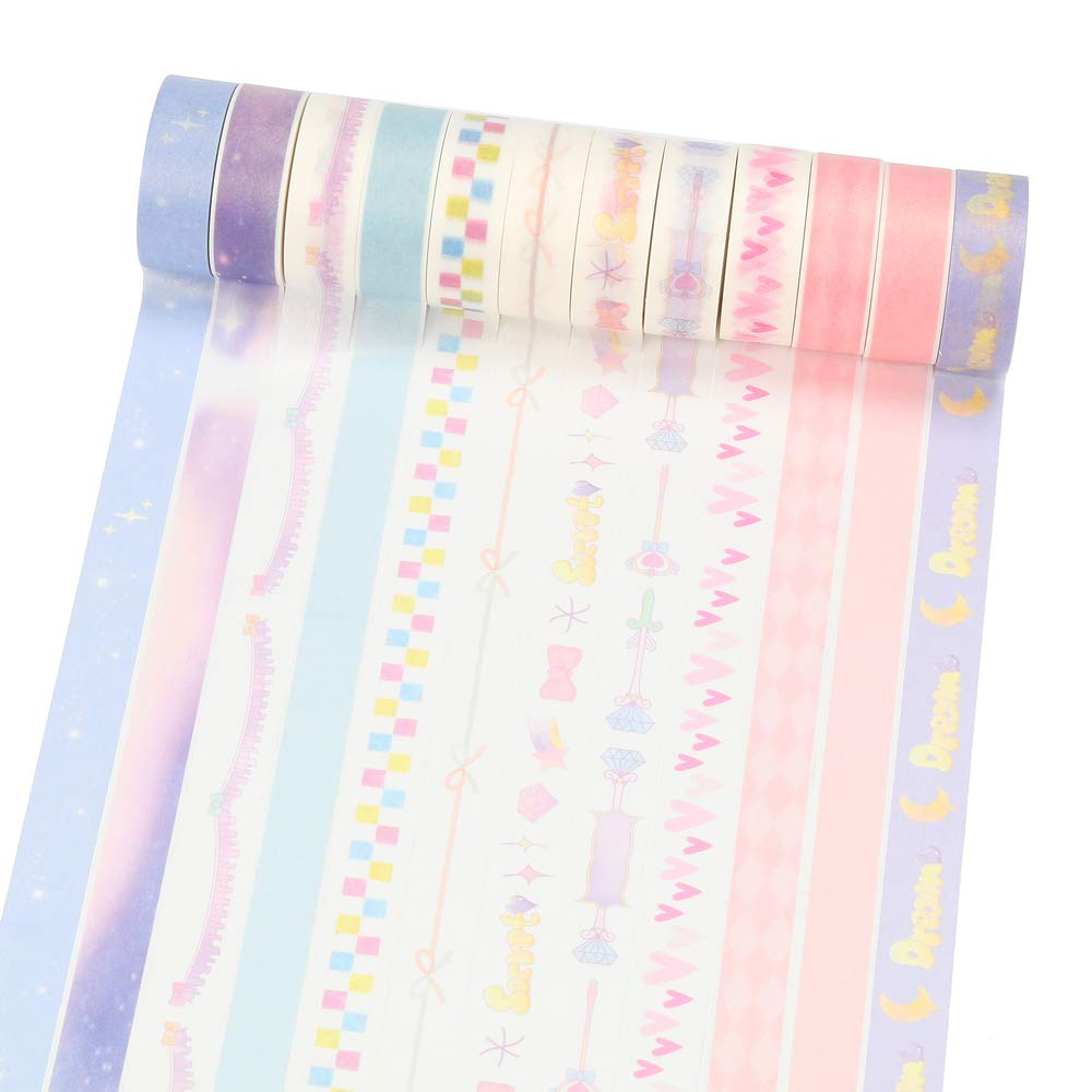 9.8ft//roll Molshine 20rolls Washi Masking Tape,Adhesive Paper,Cute Tape for DIY,Planners,Scrapbooking,Object Beautification,Home Furnishing Decor,Gift Wrapping-Solid Color Basic Graphics Series