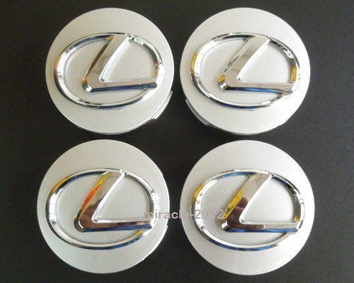 Tripoint® 4 pcs 62mm Sliver Chrome WHEEL CENTER CAPS Hubcaps for LEXUS ES350 GS300 IS350 RX350 (Lexus Wheel Center Cap)