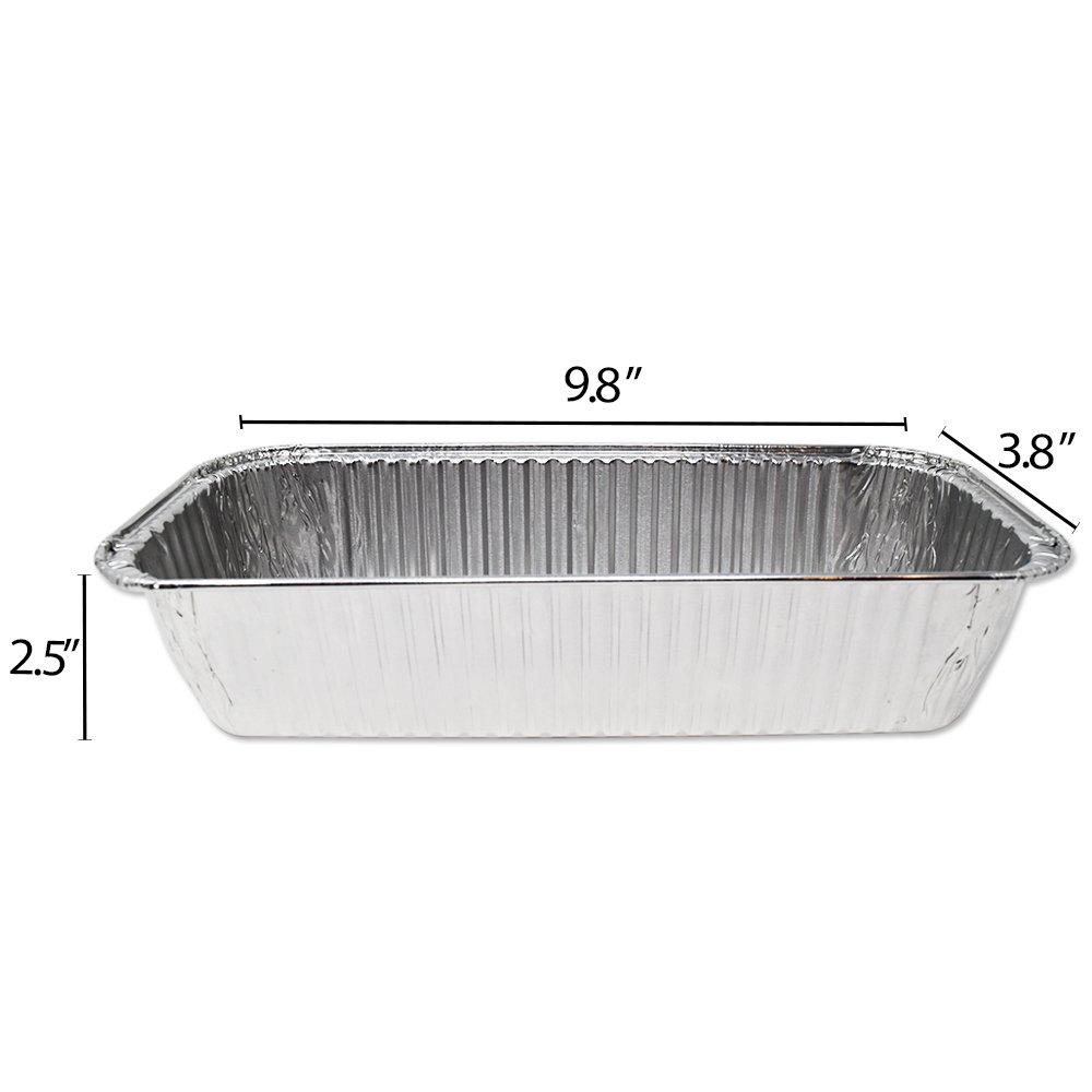 Fig & Leaf (420 Pack) Weber Grills Compatible 6417 Drip Pans l Size 11'' x 5'' x 2.5'' l Aluminum Foil l 44 Gauge l Fit Genesis II LX 400 600 Series All-Purpose Summit 400 600 Gold Platinum Gas Grill by Fig & Leaf (Image #2)