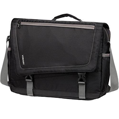 Lightweight Water Resistant 15.6 Laptop Messenger Bag for Men School Office Shoulder Bag by Vonxury Black