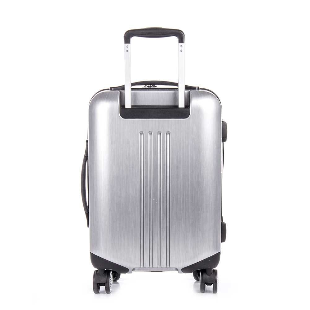 deae02d00b6d Bugatti HLG1603-Silver Hard Case Carry-On Luggage, Silver ...