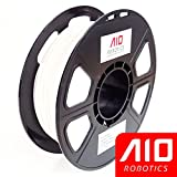 AIO Robotics AIOWHITE PLA 3D Printer Filament, 0.5 kg Spool, Dimensional Accuracy +/- 0.02 mm, 1.75 mm, White