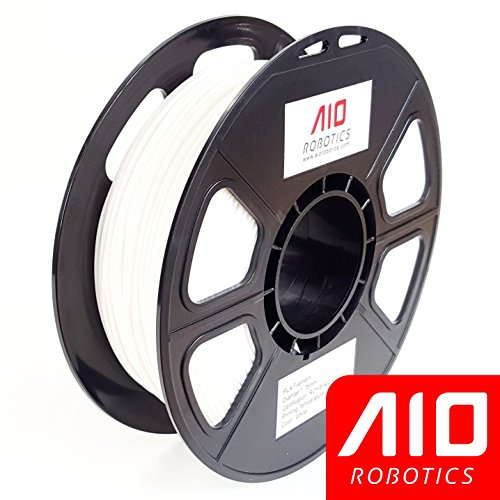 AIO Robotics AIOWHITE PLA 3D Printer Filament, 0.5 kg Spool, Dimensional Accuracy +/- 0.02 mm, 1.75 mm, White by AIO Robotics
