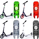 MIAWHEELS Adjustable & Foldable + SUSPENSION+ STRAP+REFLECTIVE+ Long REAR BRAKE, Aluminium Kick Scooter