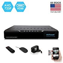 MVPower 4CH CCTV DVR, 720P & 960H recording Security Digital Video Recorder, iPhone Android Mobile View, Motion Alarm, Email Alert, HDMI Outputs for Home Surveillance Cameras MP-47159