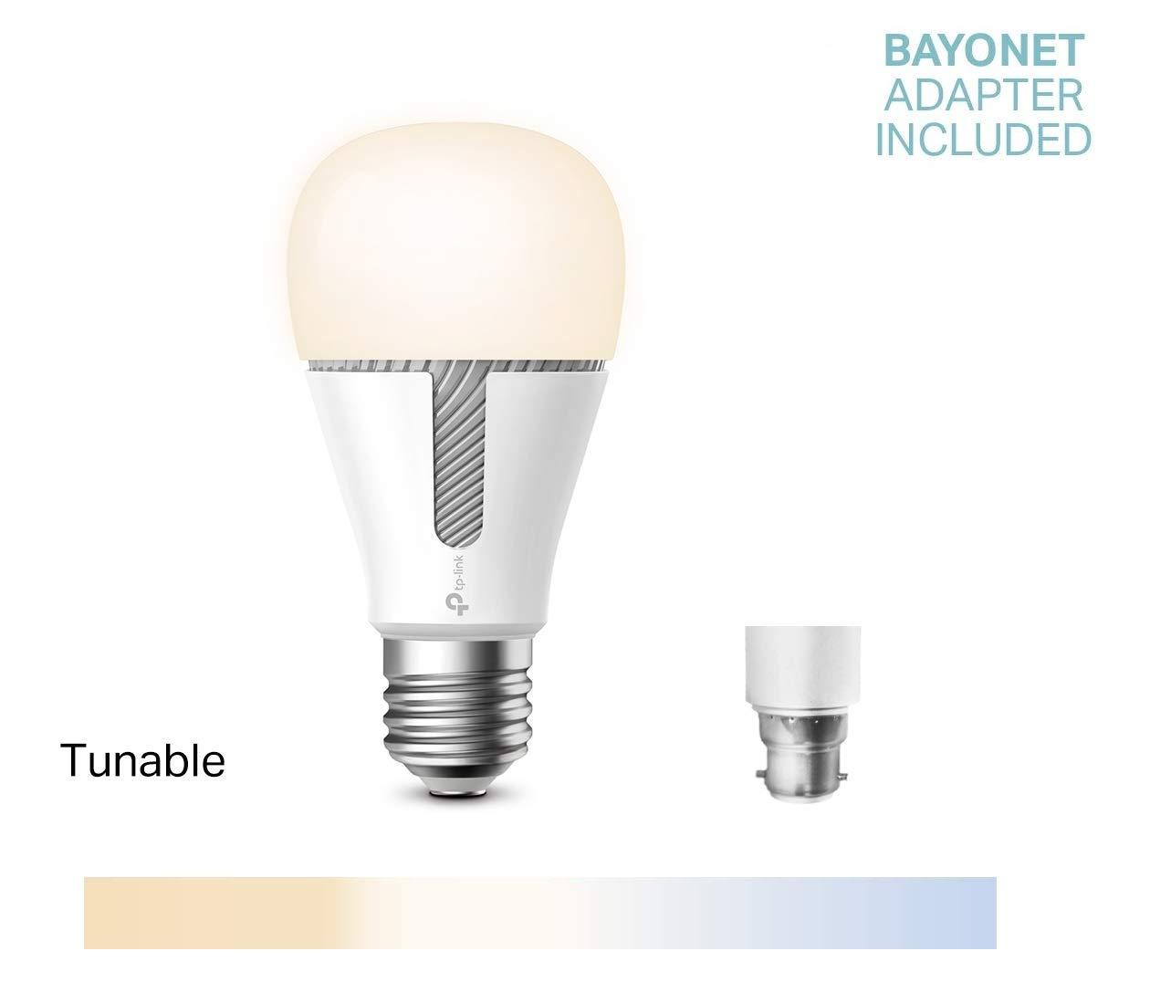 TP-LINK Bombilla LED funciona con Alexa altavoz inteligente y Google Home KL130 Bombilla WiFi Multicolor 800lm