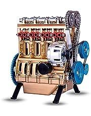 4 cylindrig bilmotor kit vuxen modell, mini diy motor modell leksak kit, skrivbordsmotor leksak vuxen leksak stirling motor kit modell
