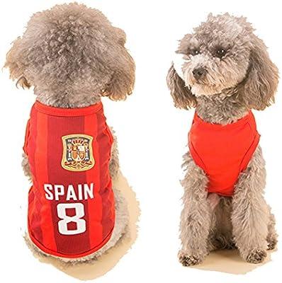 Camiseta de fútbol para perros, disfraz de fútbol, Copa del Mundo ...