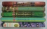 Hem Best Seller Incense Stick Set #2: Top 5 x 20 = 100 Sticks Bulk Sampler by Rainbowrecords239