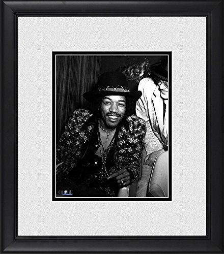 "Jimi Hendrix Framed 8"" x 10"" in Hat Photograph"