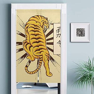JISMUCI Cortinas,Tigre japonés Vintage Tatuaje Animales Fauna ...