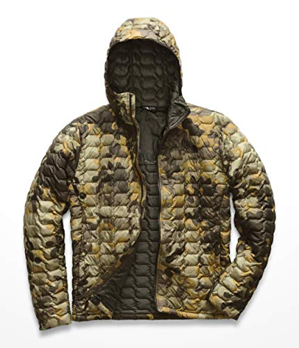 The North Face Men's Thermoball Hoodie New Taupe/Green Macrofleck/Camo Print X-Large - New Mens Hoodie