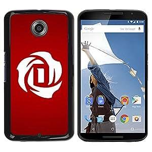 Be Good Phone Accessory // Dura Cáscara cubierta Protectora Caso Carcasa Funda de Protección para Motorola NEXUS 6 / X / Moto X Pro // Minimalist D letter Dracula