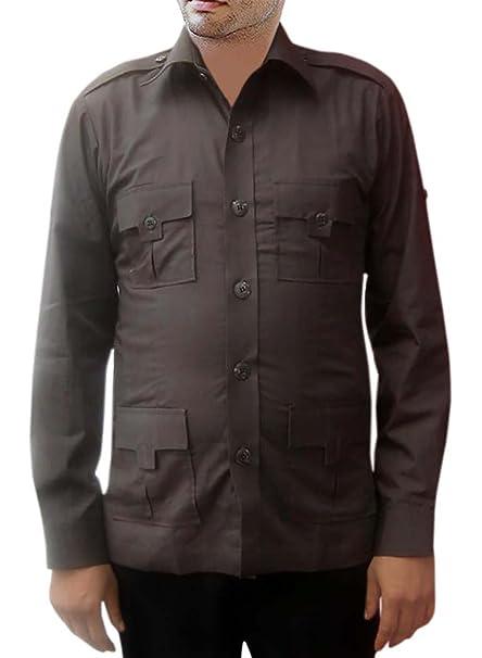 INMONARCH - Camiseta de Caza para Hombre algodón Dim-Grey Bush de Bolsillo (4 Camisas HS113: Amazon.es: Ropa y accesorios