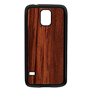 Dark Wood Grain Texture Black Silicon Rubber Case for Galaxy S5 by UltraCases + FREE Crystal Clear Screen Protector