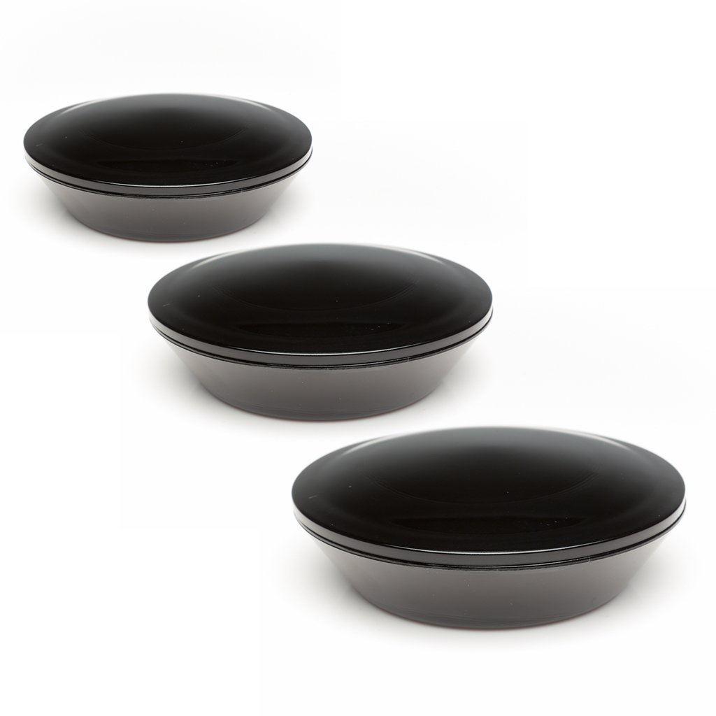 Infinity Jars 100 Ml (3.38 fl oz) Black Ultraviolet Covered Glass Dish with Glass Lid 3-Pack