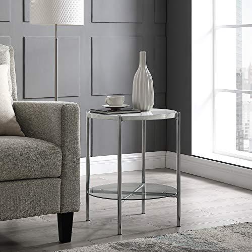 WE Furniture AZF20SRDSTWMCR Side Table, 20