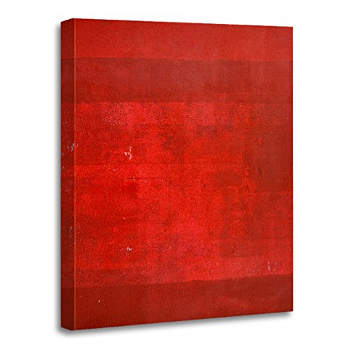 TORASS Canvas Wall Art Print Painting Boxcar Red Abstract Modern Contemporary White Artwork for Home Decor 20