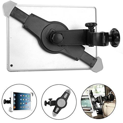 Headrest Mount,Dealgadgets Universal Tablet Car Seat Headrest Mount Holder for iPad Mini,iPad 2,3,4, iPad Air, iPad Air 2, (Samsung Galaxy Tab4 Car Mount)