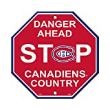 NHL Montreal Canadiens Stop Sign, 12 x 12