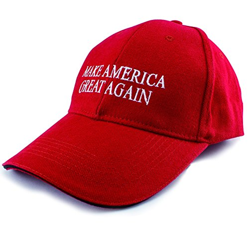 Trump Trump Mens Make America Great Again    Trump 2016 Unisex Adult Adjustable Cap   Red One Size