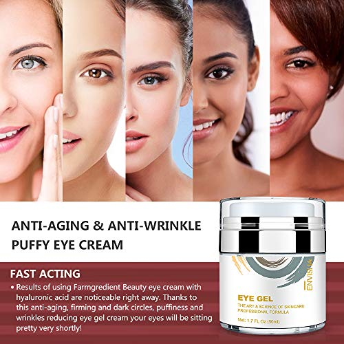 51iS8BPuFHL - Wumal Eye Gel Cream for Appearance of Dark Circles, Puffiness, Wrinkles and Bags - Effective Anti Aging Eye Cream for Men and Women