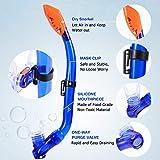 SKL Kids Snorkel Set Dry Top Snorkel Mask