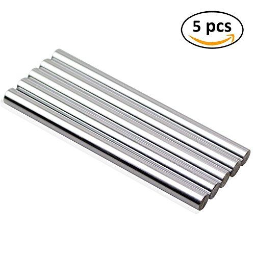 [DYWISHKEY Linear Motion Shaft 8mm X 100mm Round Hardened Lathe Bar Rod (5Pcs)] (8 Mm Shaft)