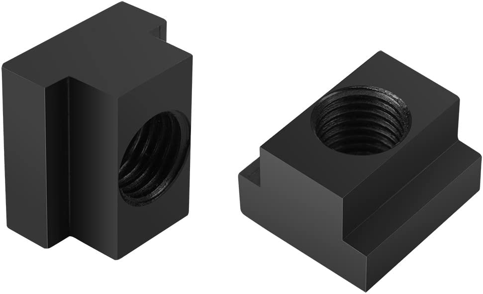 Neufday 5pcs T Slot Nuts Black Oxide Finish M 16 Threads Fit Into T-Slots in Machine Tool Tables