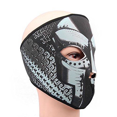 Brand New Reversible Black Gray Doodles Full Face Mask Motorcycle Light Weight Ski Snow Warm 2 in 1 Hot
