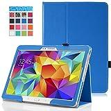 MoKo Samsung Galaxy Tab S 10.5 Case - Slim Folding Cover Case for Samsung Galaxy Tab S 10.5 Inch Android Tablet, BLUE (With Smart Cover Auto Wake / Sleep)