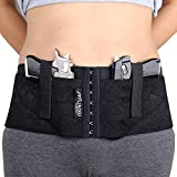 LINIXU Women's Concealed Carry Holster Hip Hugger Classic Lace Black/red (Black, S(31'-35'))