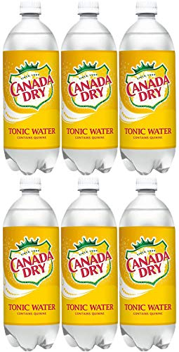 Canada Dry Tonic Water, 33.8 Fl Oz Bottle (Pack of 6, Total 202.8 Fl Oz) ()