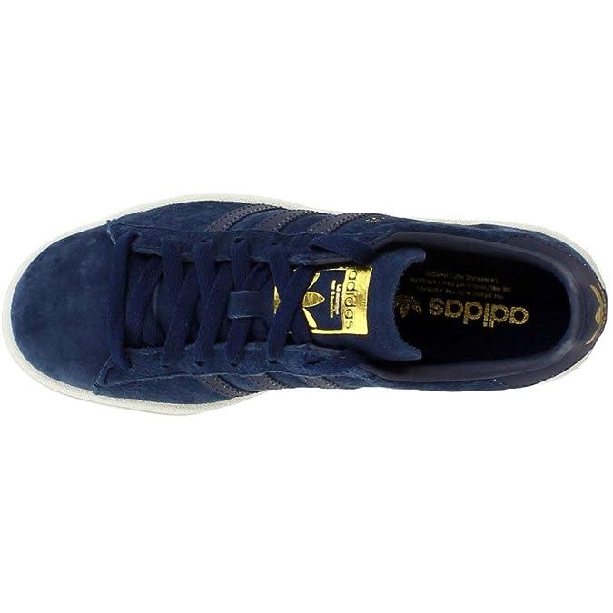 buy popular 9f83a b014d Amazon.com  adidas Campus Mens Shoes Collegiate NavyReflectiveGold  Metallic bz0073 (8 M US)  Fashion Sneakers