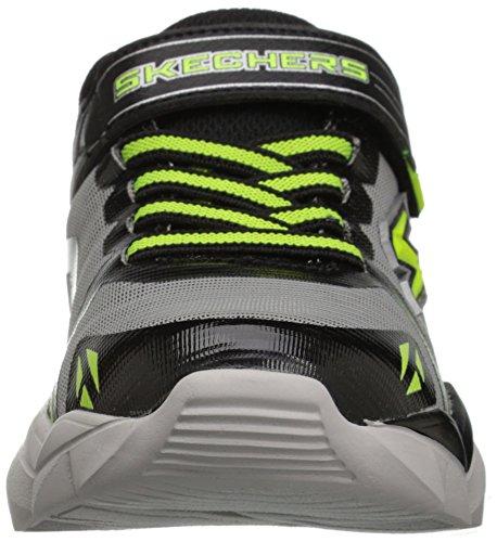 Skechers Electronz-Blazar, Zapatillas para Niños Plateado (Slbk)