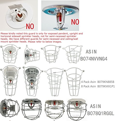 Happy Tree (6 Pack) Fire Sprinkler Head Guard Cage Chrome Plated for 1/2 IPS Head-Double Hook by Happy Tree (Image #6)