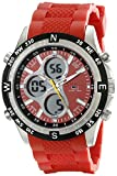 U.S. Polo Assn. Sport Men's US9136 Red Silicone Analog Digital Watch