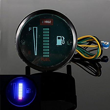 Forspero Motorcycle Automobile Aluminum Alloy LED Fuel Level Meter Gauge - Blue
