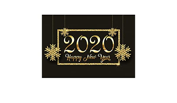 Happy New Year 2019 Backdrop Polyester 10x8ft Cartoon Golden Ornaments Illustration Frame Background Child Kids Adult Shoot New Year Party Banner Greeting Card Studio Props Wallpaper