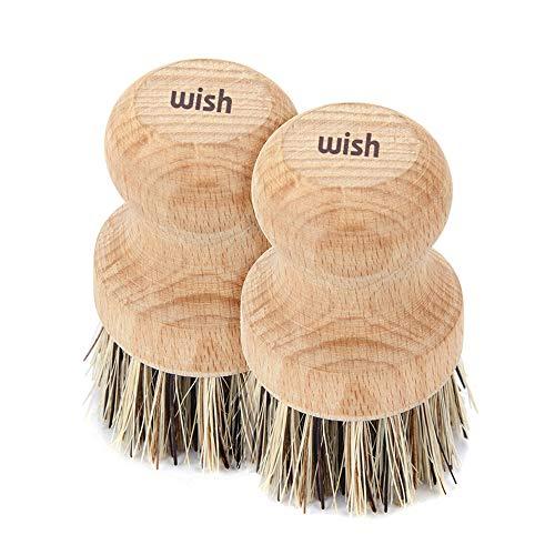 Wish Natural Cleaning Brush Kitchen Pot Pan Scrub Brush (2 Pack)