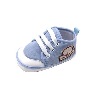 cf7a363047434 Chaussures Bébé Binggong Chaussures Nouveau-né bébé Filles et garçons Doux  Chaussures Solides Ours Lettre