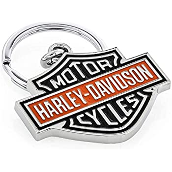 Amazon.com: HARLEY-DAVIDSON Black Bar & Shield Key Chain ...