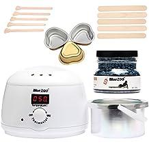 Bluezoo Waxing Kit Electric Wax Warmer with Hard Wax Beans Mini Melting Pot and Wax Applicator Sticks