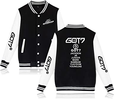 GOT7 Baseball Jacket Third World Tour Keep Spinning Fans La Chaqueta Uniforme de Beisbol Pullover Abrigos Casuales Manga Larga Sweater Sweatshirt Moda para Hombres Mujeres: Amazon.es: Ropa y accesorios