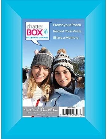 """Chatter Box Recordable Voice Photo Frame 4x6 4/""""x6/"""" Memories Solid Black"""